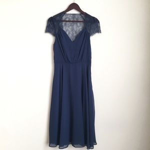 ASOS Tall Lace Detail Midi Dress